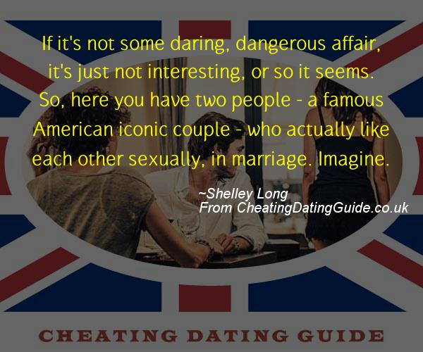 Cheating Quote - Shelley Long - Cheating Stories quote image