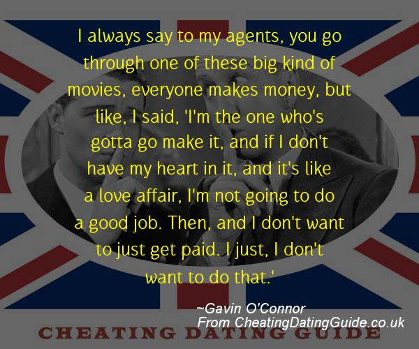 Cheating Quote - Gavin O'Connor - Cheating Stories quote image
