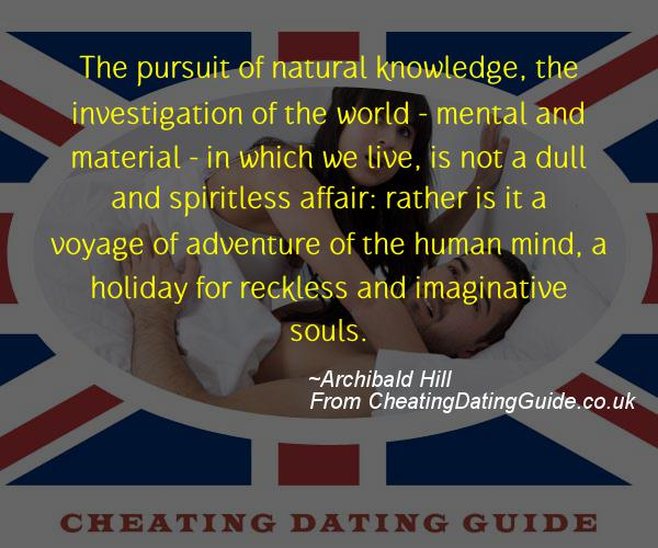 Cheating Quote - Archibald Hill - Cheating Stories quote image