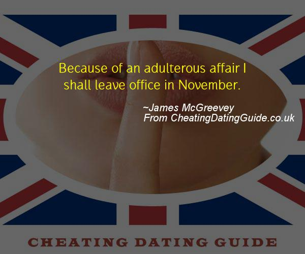 Cheating Quote - James McGreevey - Cheating Stories quote image