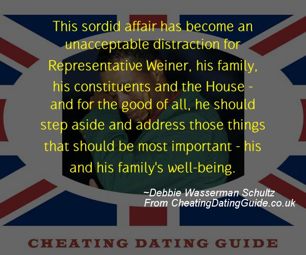 Cheating Quote - Debbie Wasserman Schultz - Cheating Stories quote image