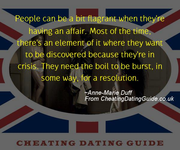Cheating Quote - Anne-Marie Duff - Cheating Stories quote image