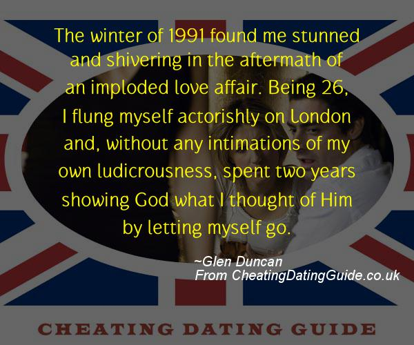 Cheating Quote - Glen Duncan - Cheating Stories quote image