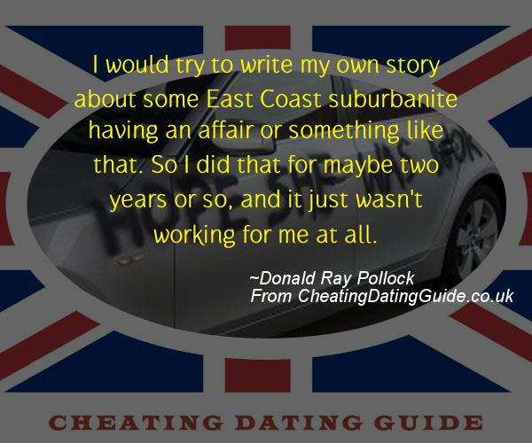 Cheating Quote - Donald Ray Pollock - Cheating Stories quote image