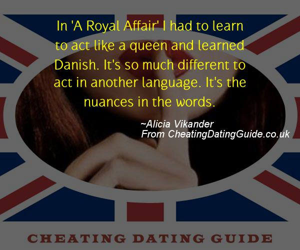 Cheating Quote - Alicia Vikander - Cheating Stories quote image