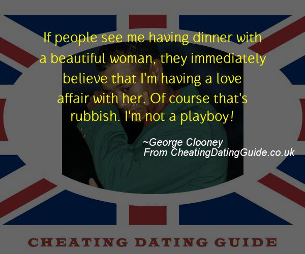 Cheating Quote - George Clooney - Cheating Stories quote image