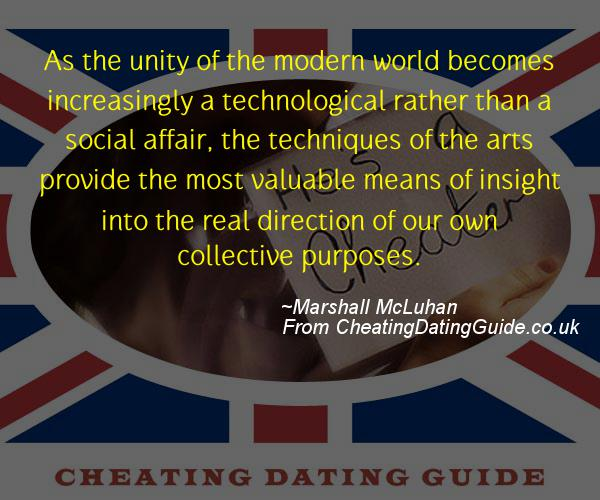 Cheating Quote - Marshall McLuhan - Cheating Stories quote image