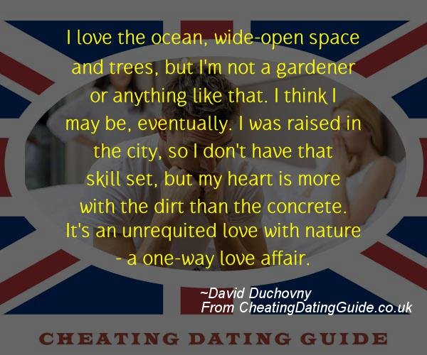 Cheating Quote - David Duchovny - Cheating Stories quote image