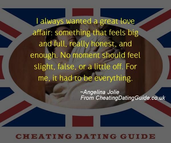 Cheating Quote - Angelina Jolie - Cheating Stories quote image