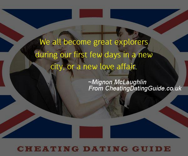 Cheating Quote - Mignon McLaughlin - Cheating Stories quote image