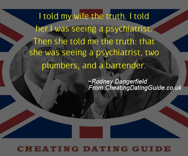 Cheating Quote - Rodney Dangerfield - Cheating Stories quote image