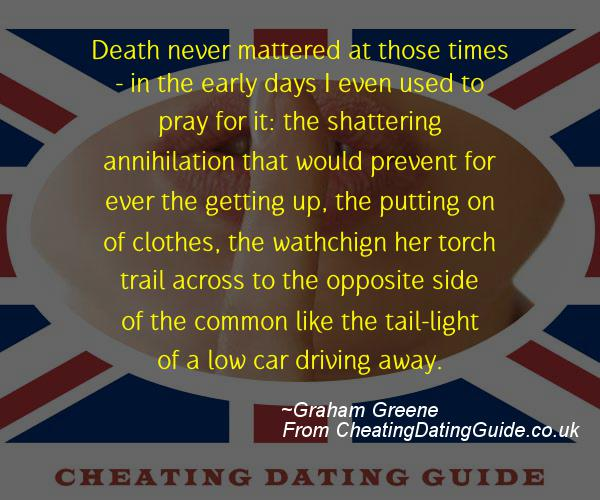 Cheating Quote - Graham Greene - Cheating Stories quote image