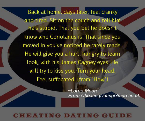 Cheating Quote - Lorrie Moore - Cheating Stories quote image