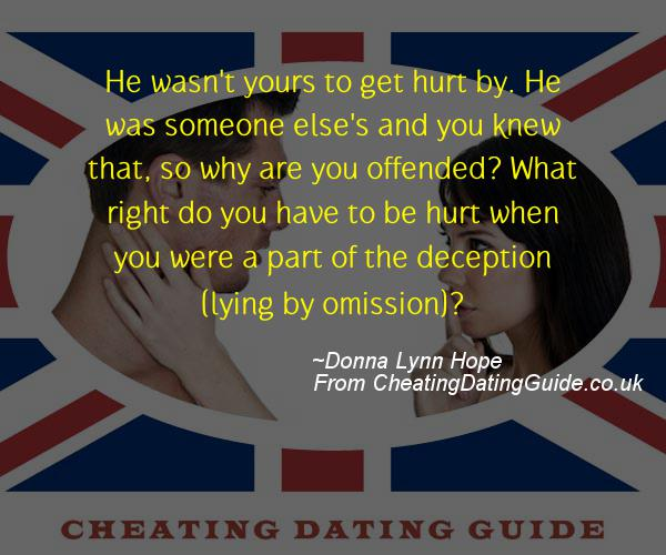 Cheating Quote - Donna Lynn Hope - Cheating Stories quote image